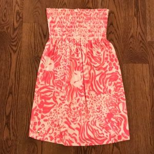 Lilly Pulitzer Pink and White Soft Terry Coverup